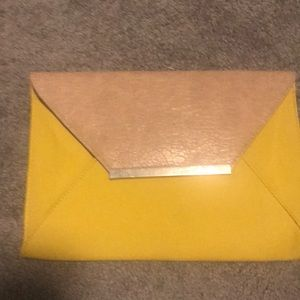 Colorblock envelope clutch